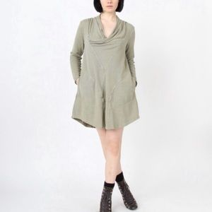Prairie Underground Cowl Neck Dress Green Size M
